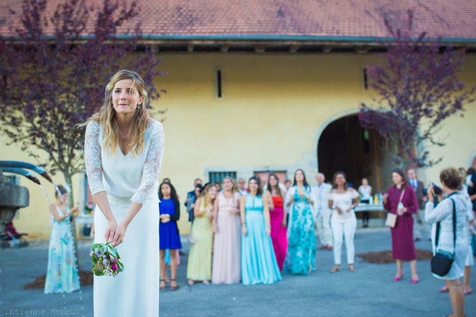 Lancé de bouquet mariage Franche Comté