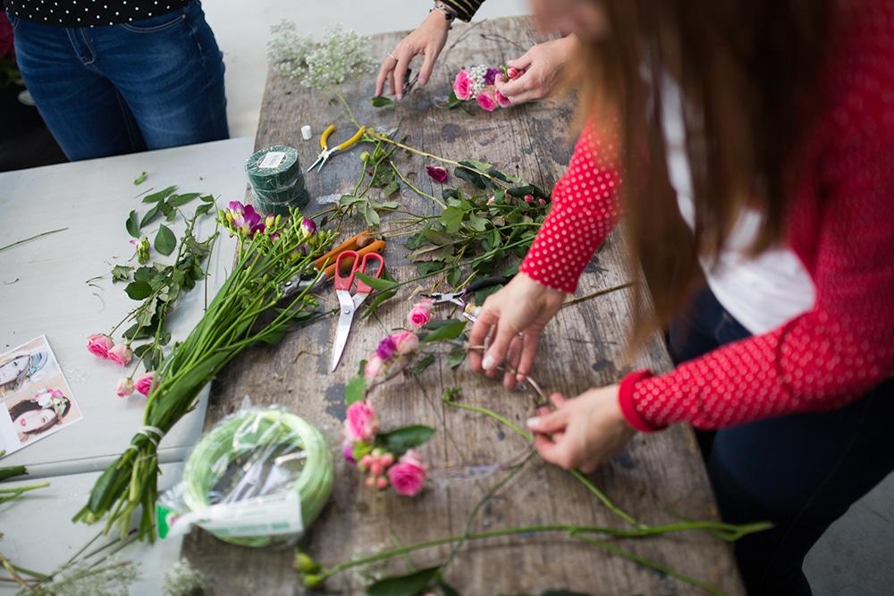 Activité florale EVJF Sonia
