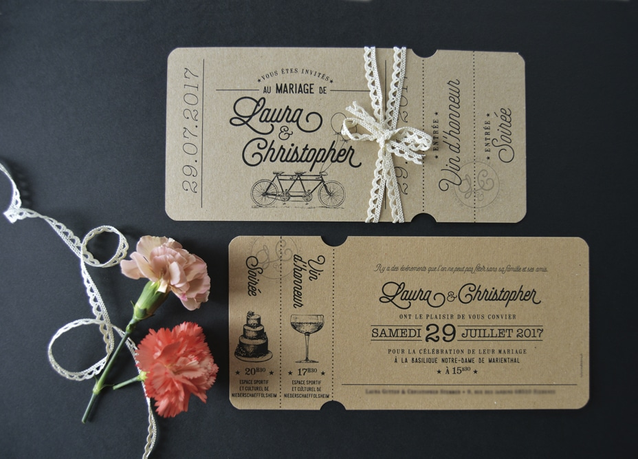 Invitation mariage sur-mesure